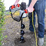 "XtremepowerUS 1500W Industrial Electric Post Hole Digger Fence Plant Soil Dig Powerhead include 6"" Digging Auger Bit Kit"