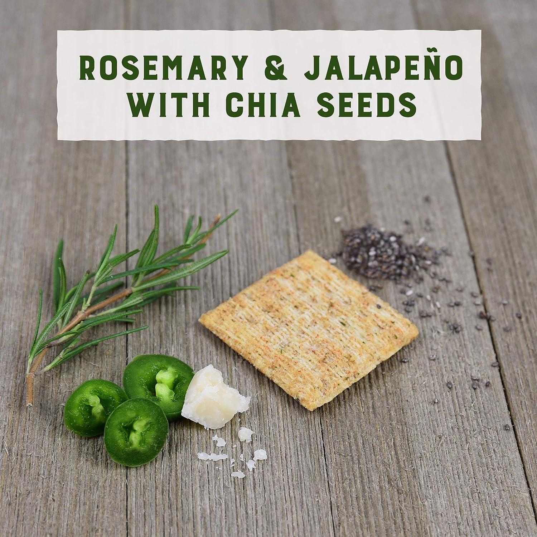 Rosemar y jalapeno de trisco con crackers de semillas de ...