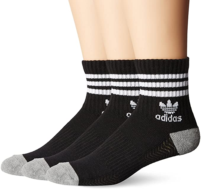 4d673756a0 adidas Men's Originals Cushioned Quarter Socks (3-Pack)