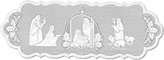product image for Heritage Lace Silent Night 14-Inch by 41-Inch White Runner