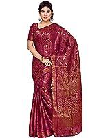 MIMOSA Art Silk Saree With Blouse Piece(4144-138-Sd-Mej_Magenta_Free Size)