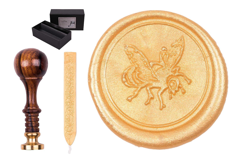 Gravurart Seal kit Sigillum inciso simbolo include 1x barra di ceralacca Gingko