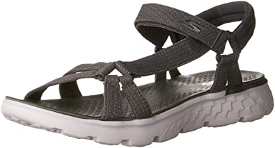 Skechers Performance Women's On The Go 400 Radiance Flip Flop,Charcoal,5 ...