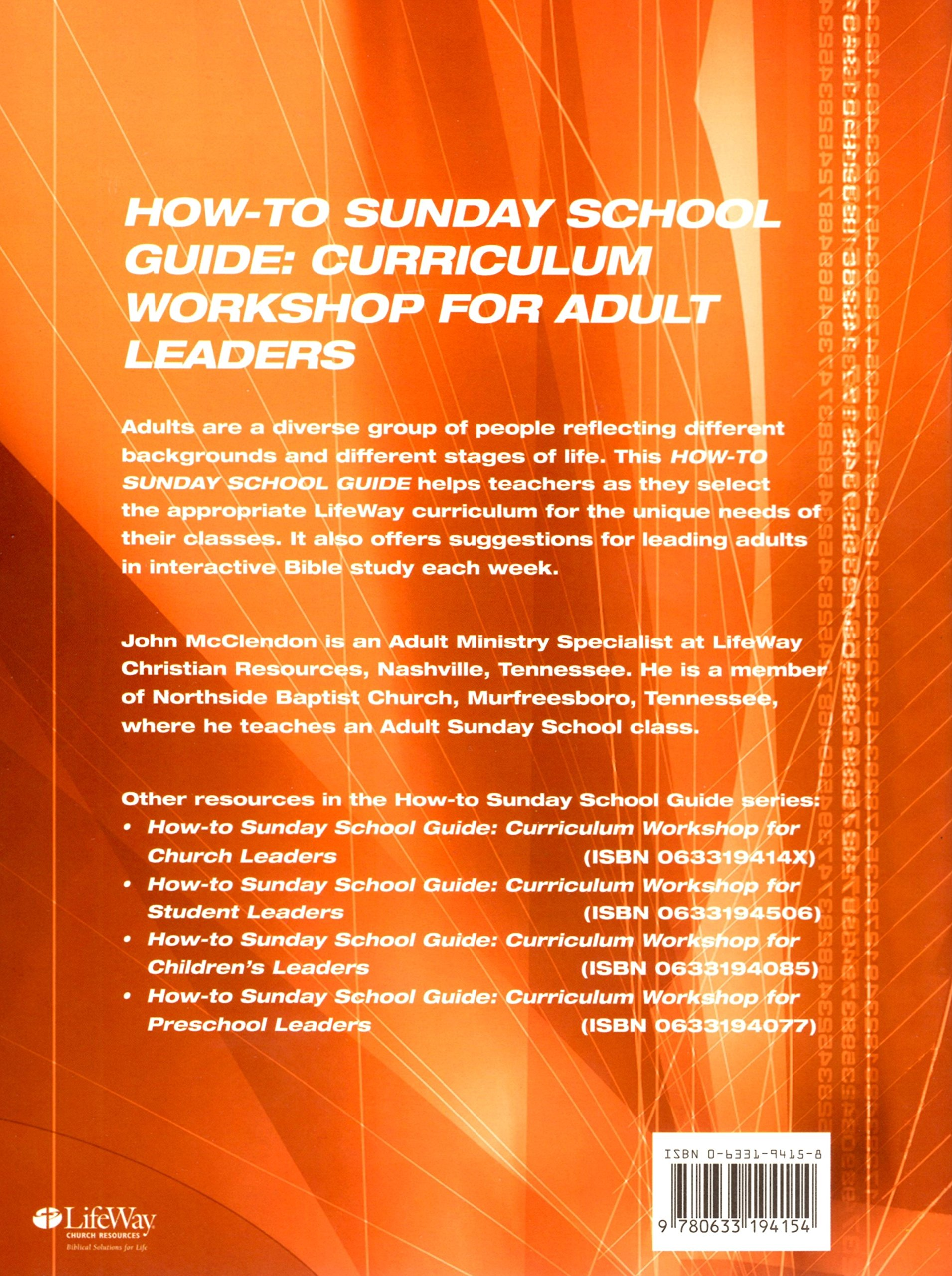 Life Adult Sunday School Curriculum — BCMA