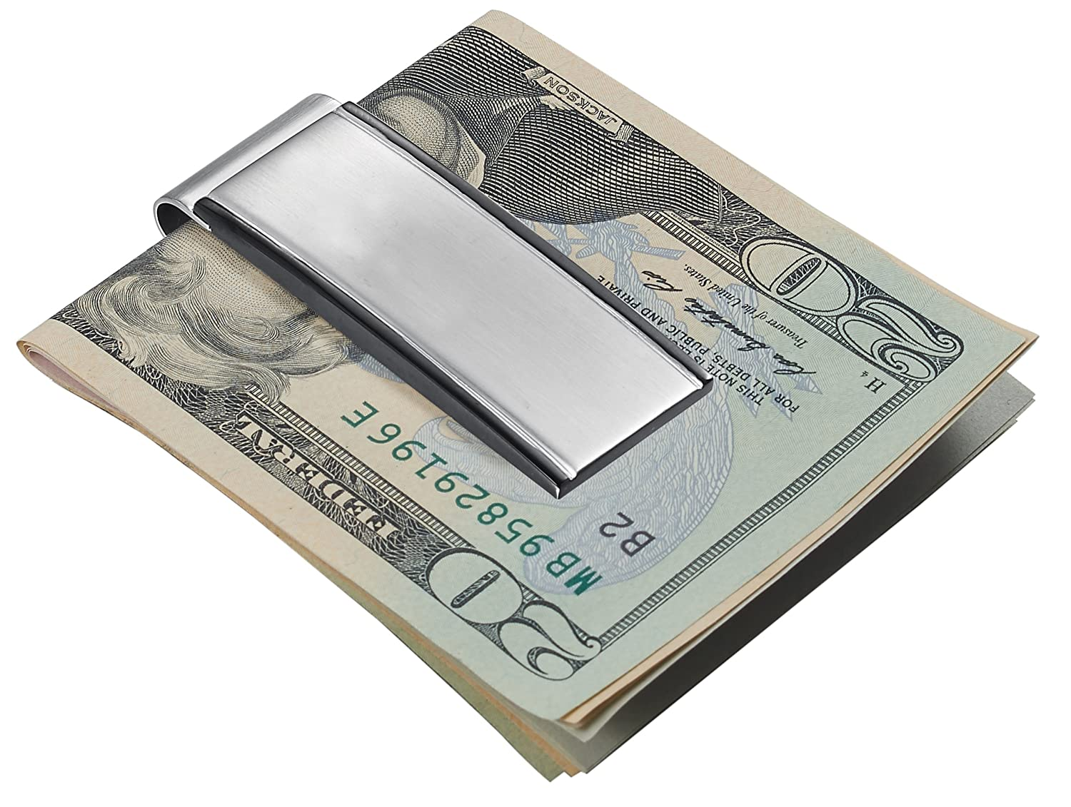Personalized Visol Javier with Brushed Gunmetal Money Clip with Free Engraving