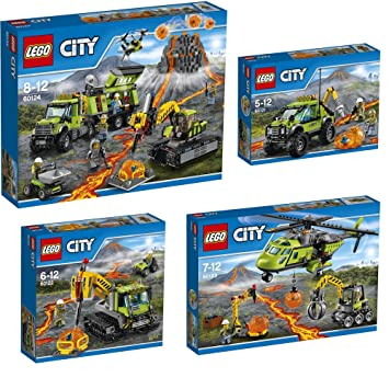 Supply Helicopter 60123 Lego City Volcano Exploration Base 60124