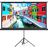 TaoTronics Projector Screen with Stand,Indoor Outdoor PVC Projection Screen 4K HD 100'' 16: 9 Wrinkle-Free Design(Easy…