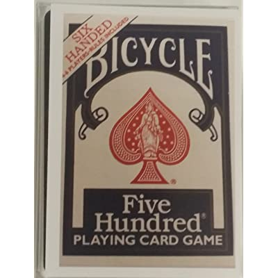Bicycle Six Handed 500 Card Deck: Sports & Outdoors [5Bkhe1102312]
