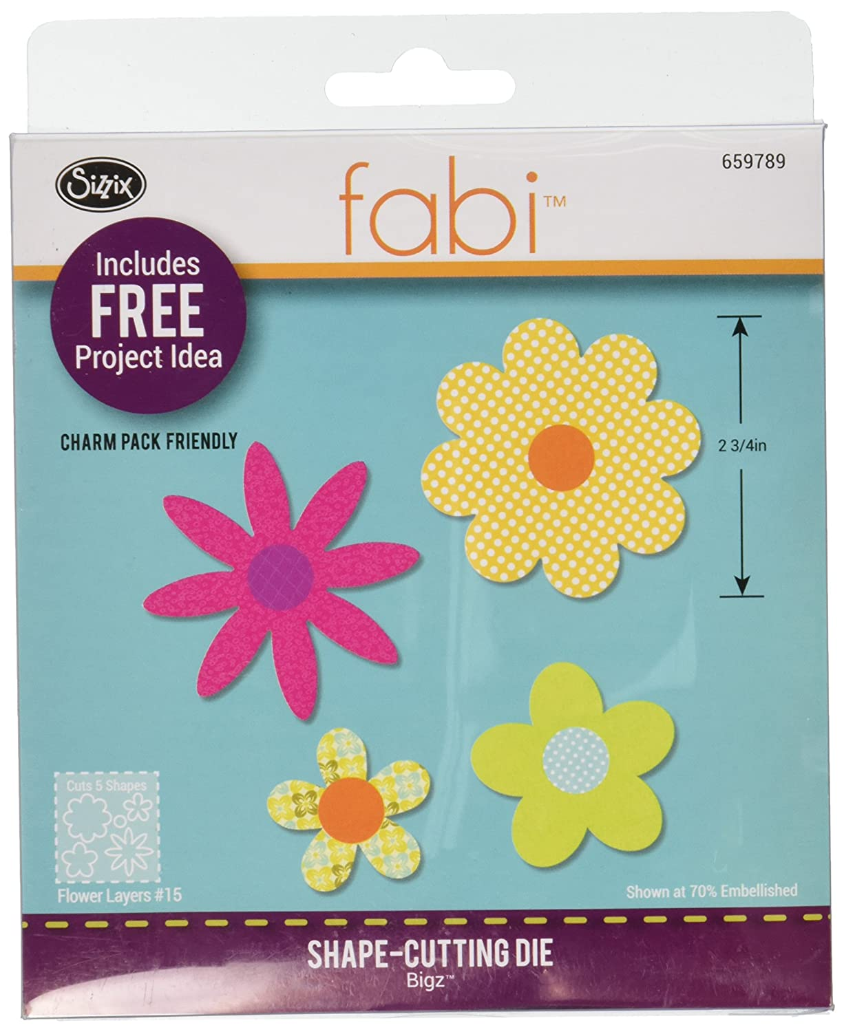 Sizzix Bigz Die, Flower Layers #15 (Fabi Edition) Ellison 659789