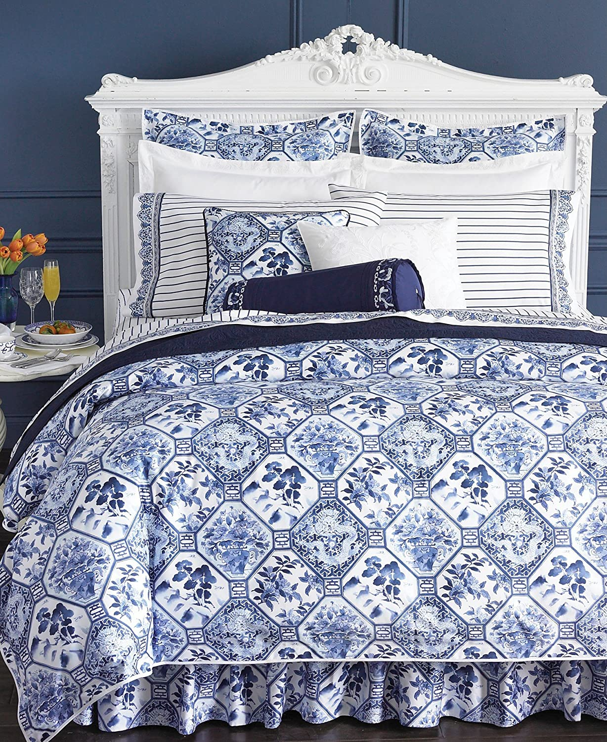 Amazon.com: Ralph Lauren Lauren Bedding, Palm Harbor Octagonal