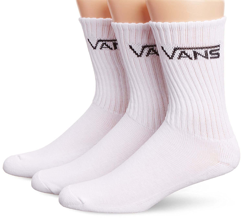 Vans Socken M Classic Crew 6 5 - Calcetines para hombre, color blanco, talla 38.5 - 42 EU (set de 3): Amazon.es: Ropa y accesorios