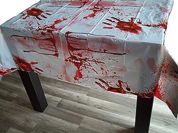 Sachsen Versand Blutige Tischdecke Blut Decke Halloween Horror