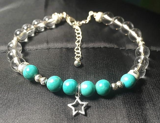 925 Turquoise Roche AuthentiqueCristal Et Argent Bracelet De MpzqUVSLG