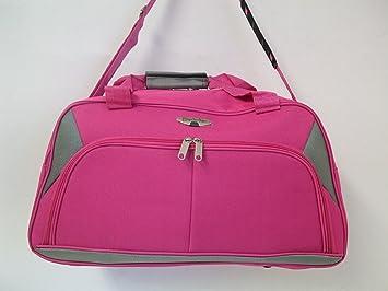 3b0f8ecdc5 Borderline 21 quot  Pink Grey Ladies Girls School Work Hand Luggage Cabin  Flight overnight weekend Bag