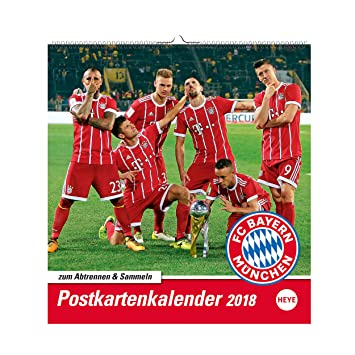 Calendrier Bayern.Fc Bayern Munchen Carte Postale Calendrier 2018 Taille