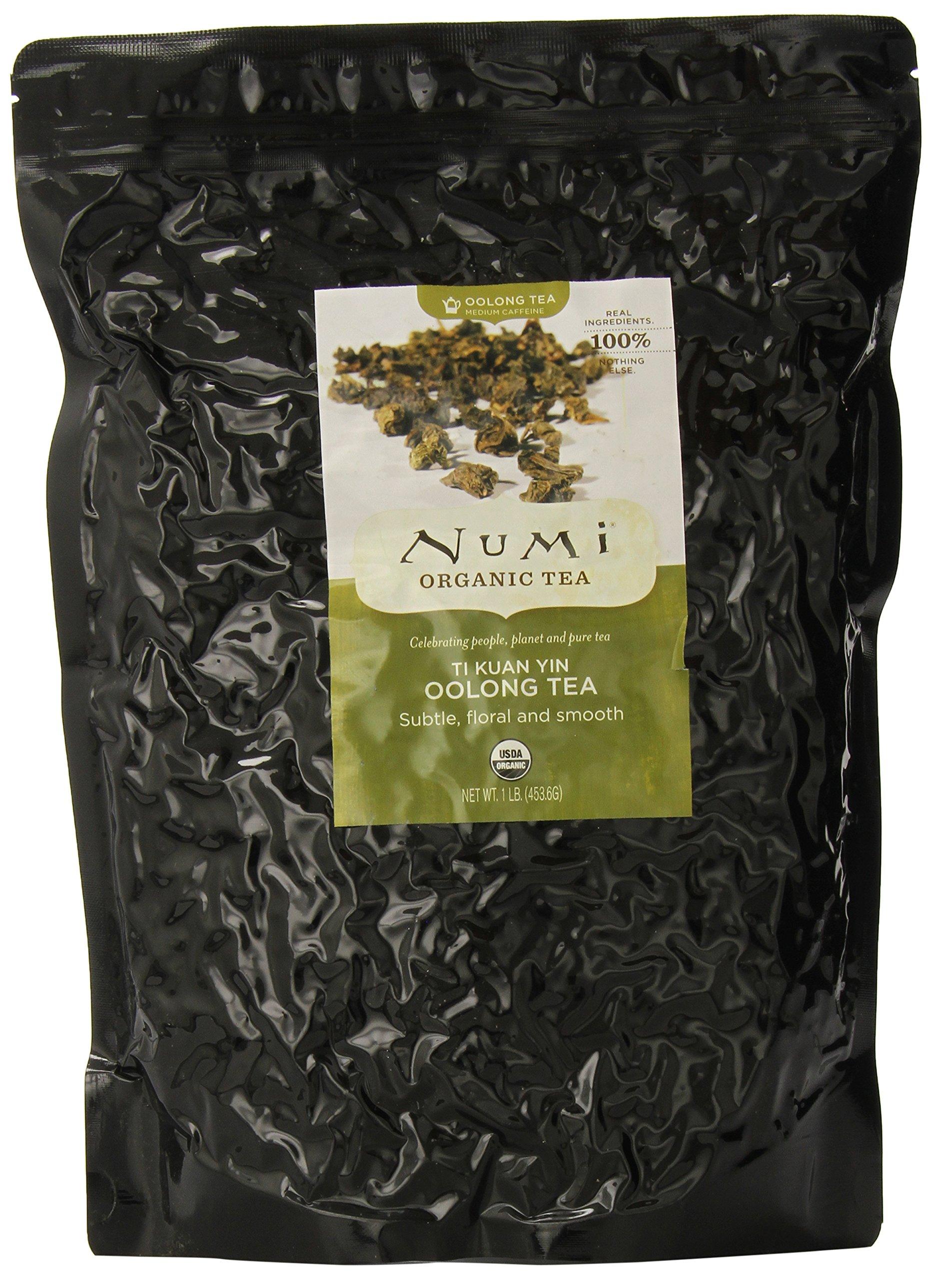 Numi Organic Tea Ti Kuan Yin, 16 Ounce Pouch, Loose Leaf Oolong Tea by Numi