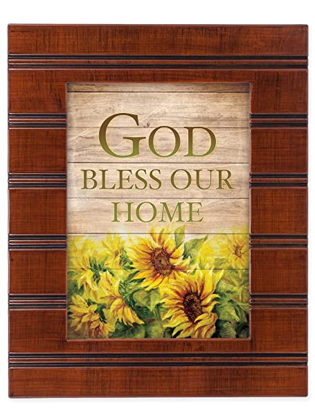 Cottage Garden God Bless Our Home Wood Finish 8 x 10 Framed Wall Art ...