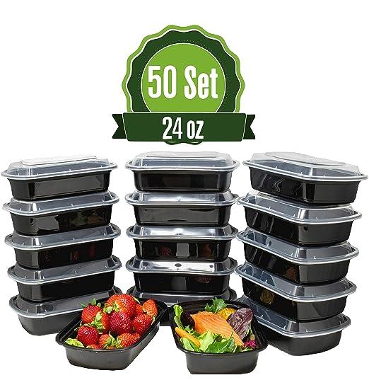 Safeware 28 oz comida Prep recipientes con tapas [lote de 15 ...