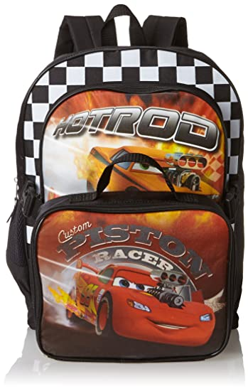 a2cd2f803017 Disney Little Boys' Cars Backpack With Lunchbox, Multi, One Size