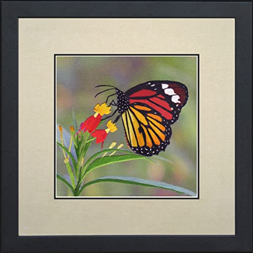 King Silk Art Handmade Embroidery Colorful Butterfly 33016