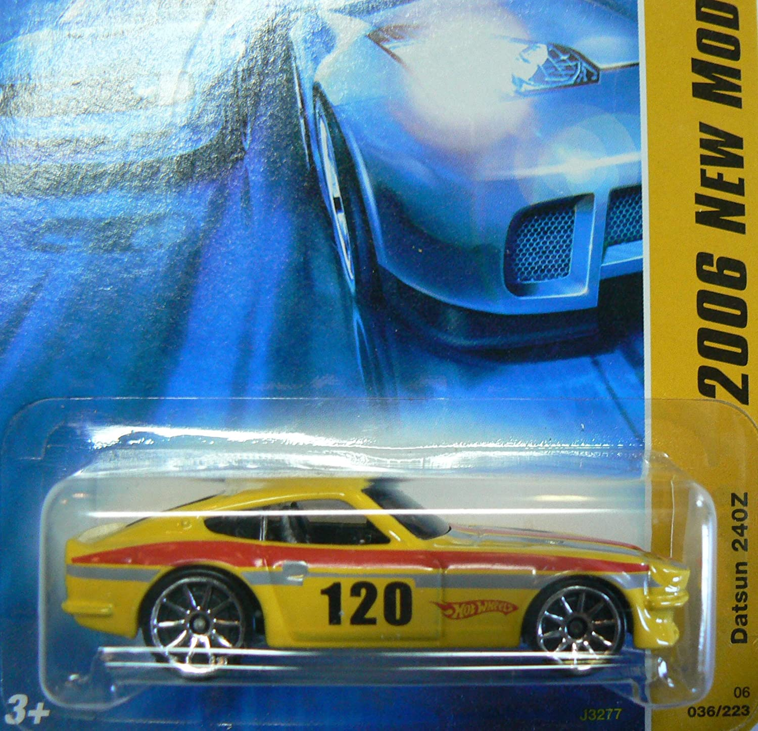 Hot Wheels 2006 New Models 36 of 38 Datsun 240Z Yellow with 10 Spoke Wheels 036/223 by Hot Wheels