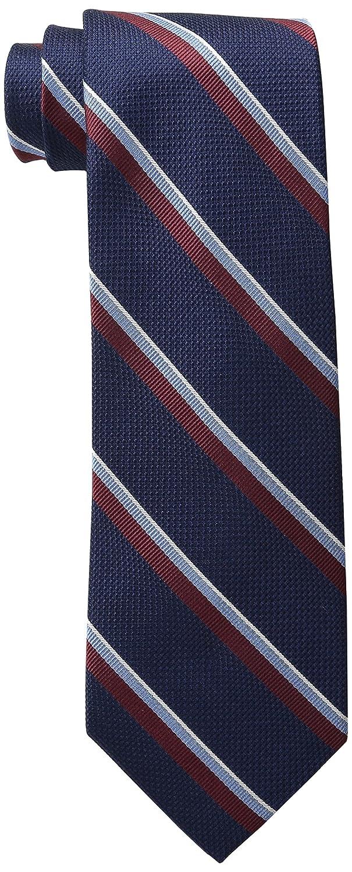 b8eb3880 Tommy Hilfiger Men's Stripe Tie, Navy, One Size at Amazon Men's Clothing  store: