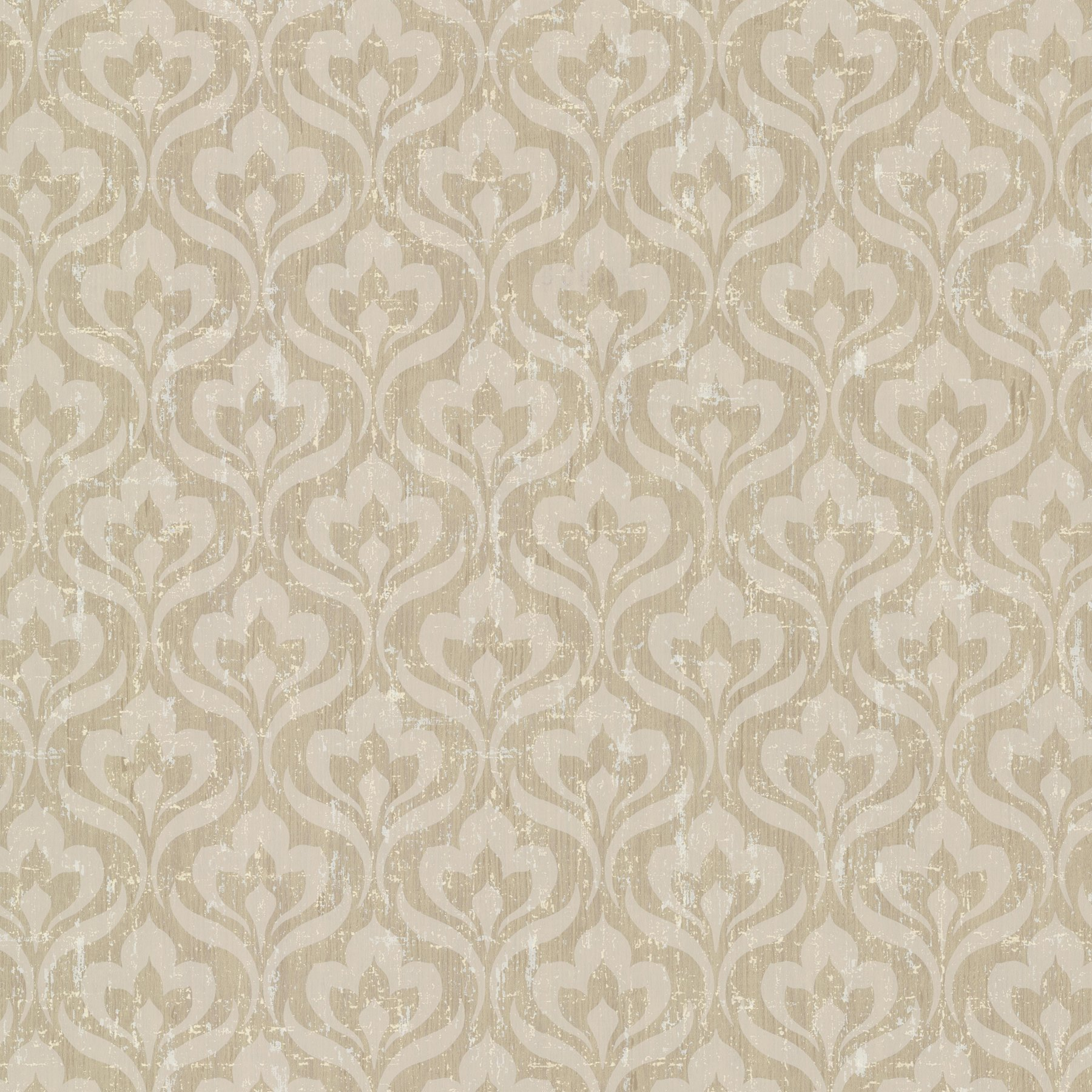 Kenneth James 672-20059 Toscana Peacock Ogee Wallpaper, Bronze by Kenneth James