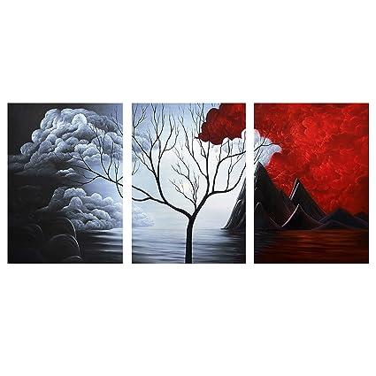 Amazon.com: iPainting Cloud Tree High Modern Abstract Painting ...