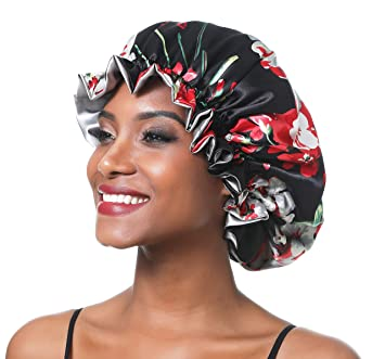 Satin Bonnet Personalized Gift Kids Bonnet Reversible Bonnet Satin Cap Adjustable Bonnets