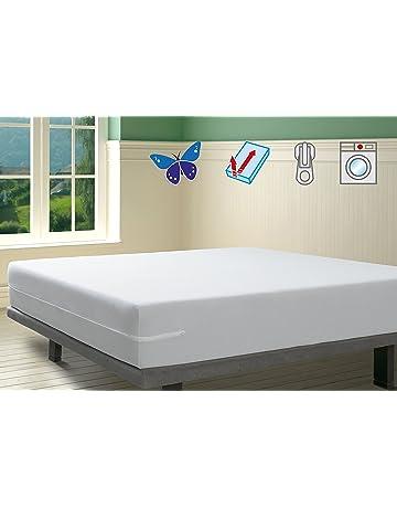 SAVEL, Funda colchón Rizo Microfibra, elástica y ajustable, 150x190/200 (para