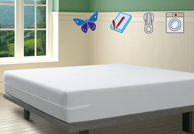 SAVEL, Funda colchón Rizo Microfibra, elástica y ajustable, 90x190/200 (para camas de 90): Amazon.es: Hogar