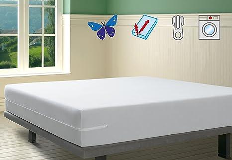 SAVEL, Funda colchón Rizo Microfibra, elástica y ajustable, 135x190/200 (para