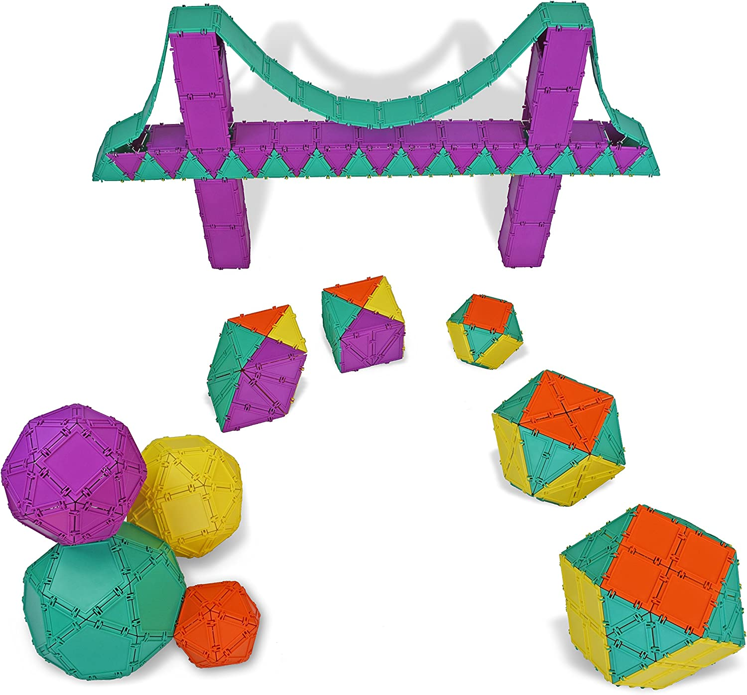 Geometiles 3D Building Set for Learning Math 96-pc (Copy)