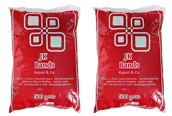 JK Bands Rubber Band, 1 inch,  Pack of 2