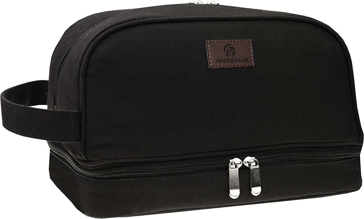82612d17ef9b Canvas Toiletry Bag - Large Dopp Kit For Men   Women - The Perfect Travel  Essentials Organizer – Ideal For Cosmetics