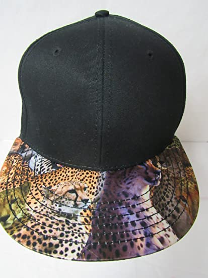 Amazon.com   Concept One Blank Men s Size OSFA Cheetah Printed Visor  Snapback Baseball Cap Hat E1 115   Sports   Outdoors f917f4313da