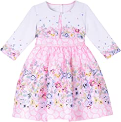 e0276cd46f65 PIPPA & JULIE Baby Girls Border Print Dress with Sweater