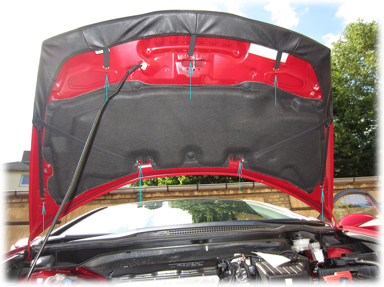 HOOD BRA Front End Nose Mask for Honda Civic Europe 2006-2012 Bonnet Bra STONEGUARD PROTECTOR TUNING