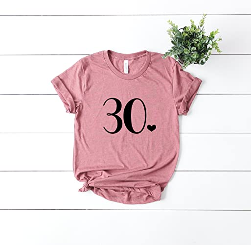 Amazon.com  30 Shirt Thirty Funny Birthday Shirt Womens T Shirt Casual  Short Sleeve T-Shirt Top Graphic Tee  Handmade 544191635