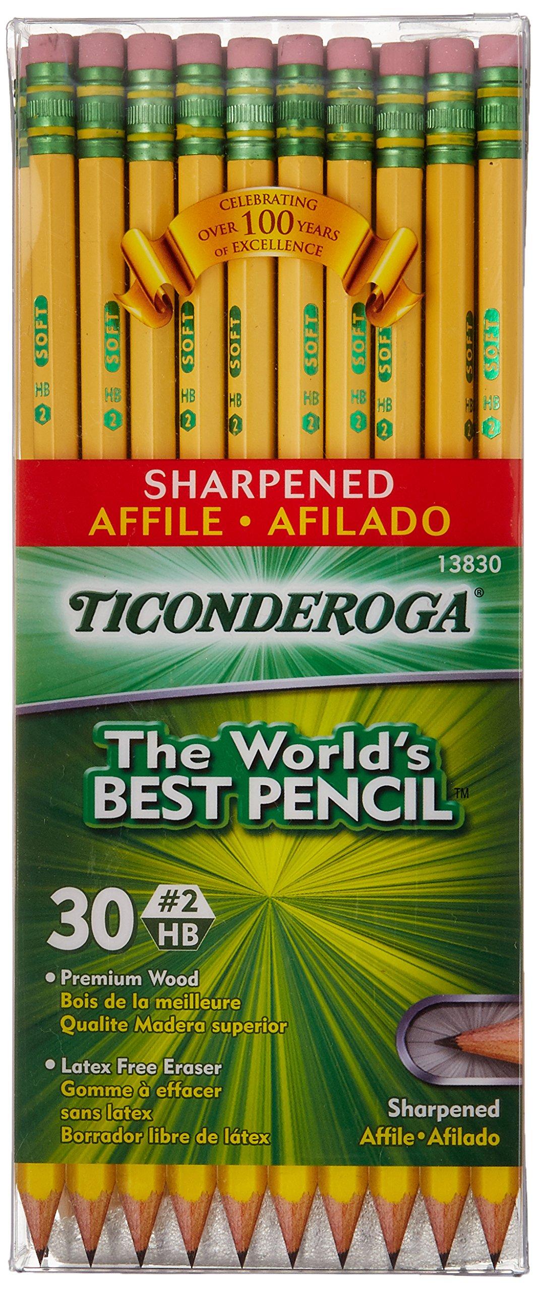 Dixon Ticonderoga Presharpened No. 2 Pencils-Pencils,w/Latex Free Eraser,Presharpened,No 2,30/BX, YW (Wholesale Case of 20) by DIX (Image #1)