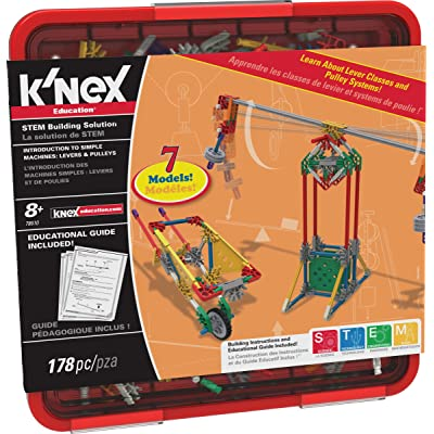 K'NEX Education - Intro to Simple Machines: Levers and Pulleys Set – 178 Pieces – For Grades 3-5 – Construction Education Toy: Toys & Games