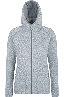 Sublevel Damen Fleece Jacke Colourblock warm und kuschelig