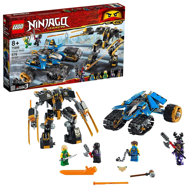 LEGO NINJAGO Legacy Thunder Raider 71699 Ninja Mech Adventure Toy Building Kit, New 2020 (576 Pieces)