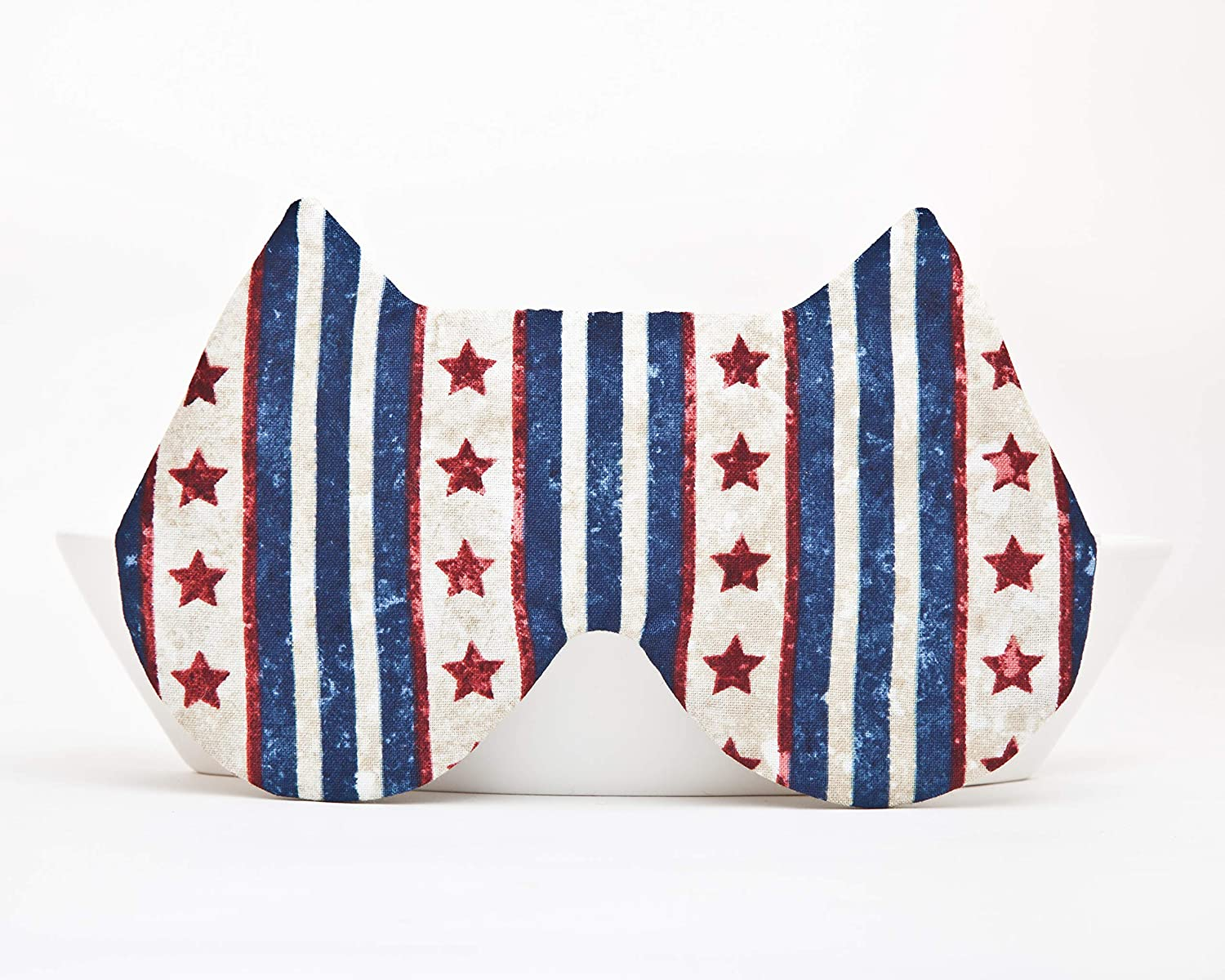 Patriotic Sleep Mask, July 4th Accessories Blue Blindfold, Travel Eye Mask, Pajama Party Supplies