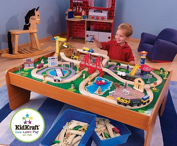 Amazon Kidkraft Ride Around Train Set And Table Toys Games