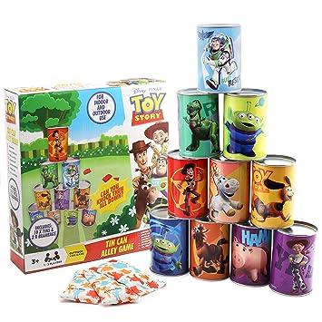 Disney Toy Story 4 Jeux Exterieur Enfant Jeux Plein Air Pour Enfants Chamboule Tout Avec 10 Canettes Et 3 Balles Tir Sur Cible Pour Jardin Avec