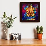 Story@Home Artistically Designed  'Ganesha' Framed Wall Art Painting (Wood, 30 cm x 3 cm x 30 cm)