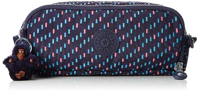 Kipling Gitroy Pencil Cases, 23 cm, 1 liters, Multicolour (Blue Dash C)