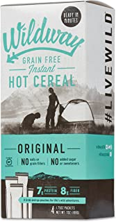 product image for Wildway Keto Hot Cereal | Original | Certified Gluten Free Instant Breakfast Cereal, Low Carb Snack | Grain-Free, Keto, Paleo, Non-GMO, No Artificial Sweetener | 2 pack