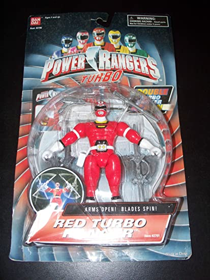 Power Rangers Turbo 1997 Double Action Shifter Red Ranger MOSC MOC RARE
